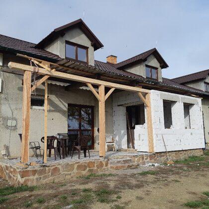 Zastřešení terasy rodinného domu.