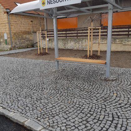 Realizace autobusové zastávky.
